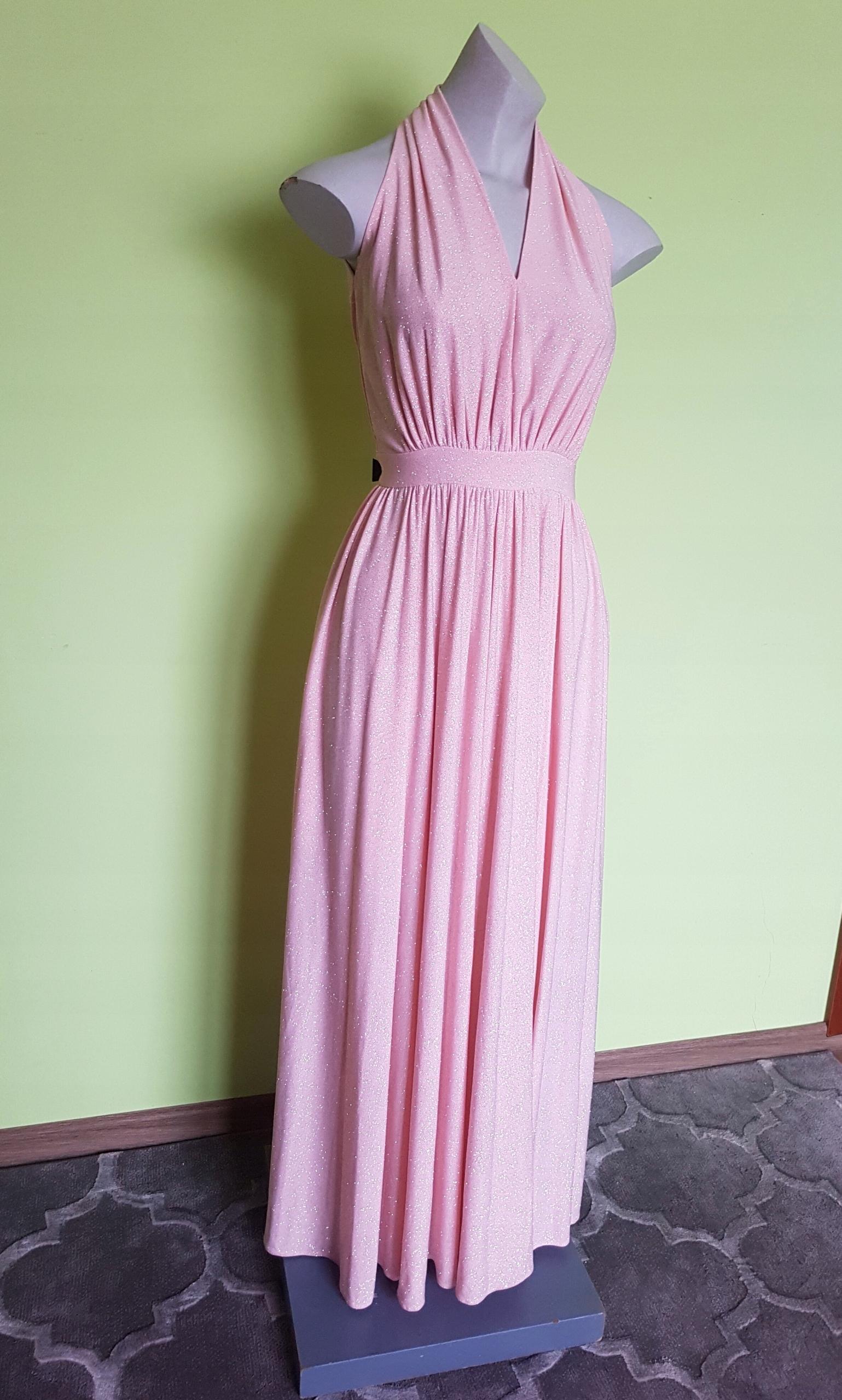 3ffb09fe44 Długa suknia sukienka brokat błyszczącą XS - 7784063081 - oficjalne ...