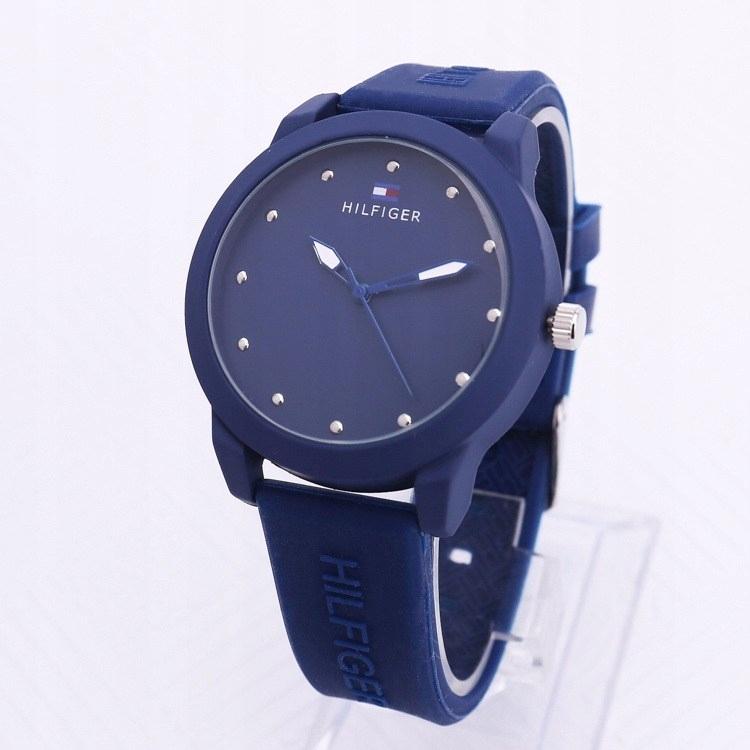 Cudowna TOMMY HILFIGER zegarek granatowy tanio - 7698464688 - oficjalne YV19