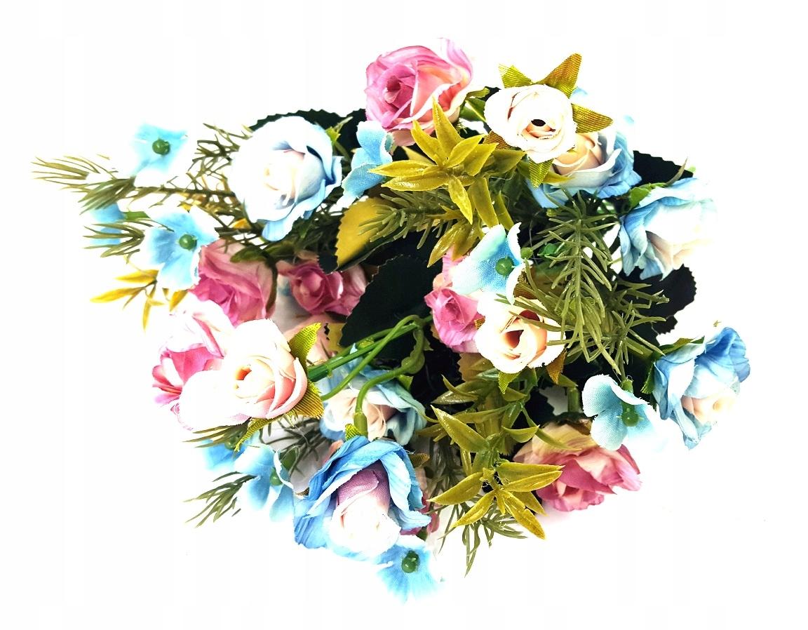 Bukiet Bukiecik Sztuczne Kwiaty 32cm 5 Szt 7537092601