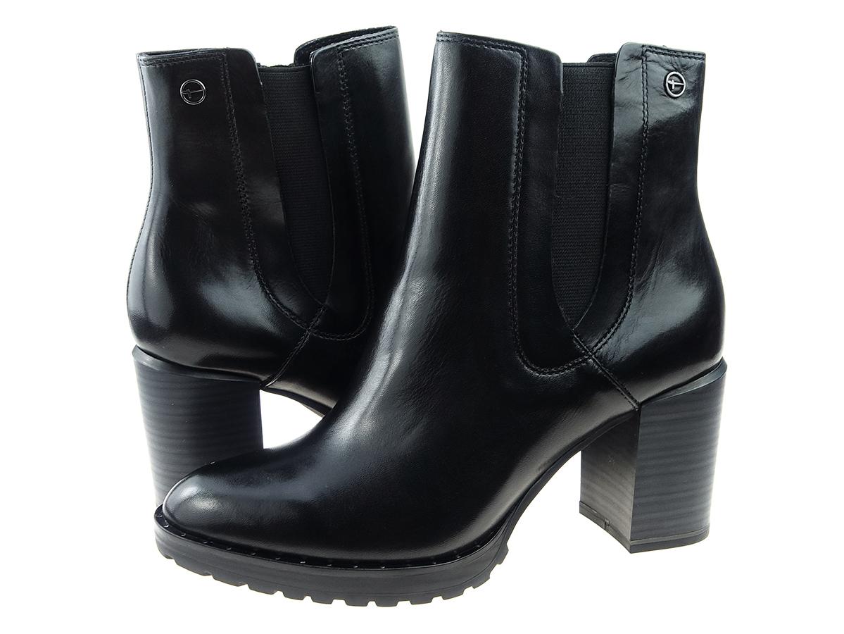 4dc5661a6702d Tamaris buty botki 25328 czarny, skóra 40 - 7585362132 - oficjalne ...