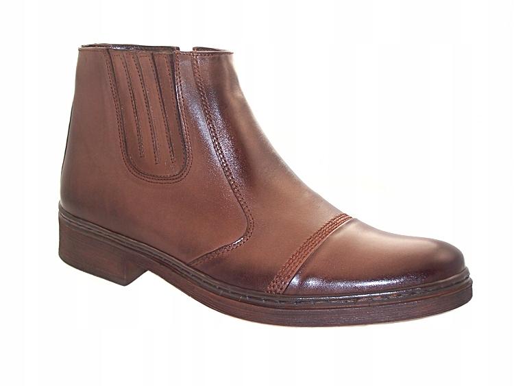 2c1d8b3dc98a1 Zimowe buty botki męskie skórzane KENT-BUT 467 R43 - 7662030215 ...