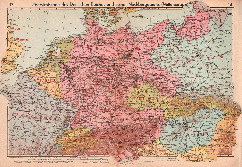 Polska Niemcy Prusy Wsch Mapa 1939 Rok Oryginał 7044055864