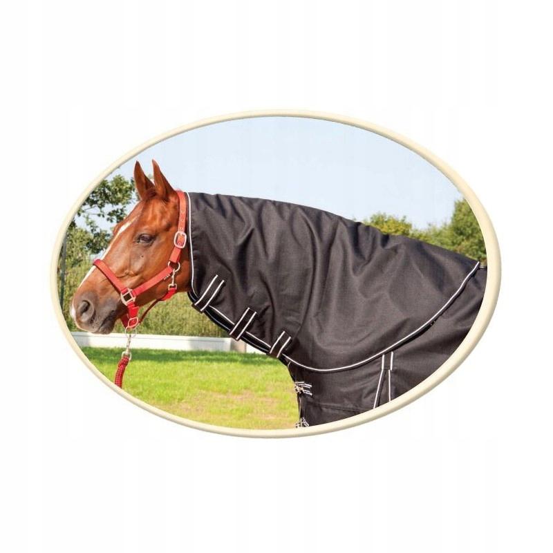 52d39116ff1ac Kaptur do derki HE Horsenjoy czarno-biały Pony - 7505677114 ...