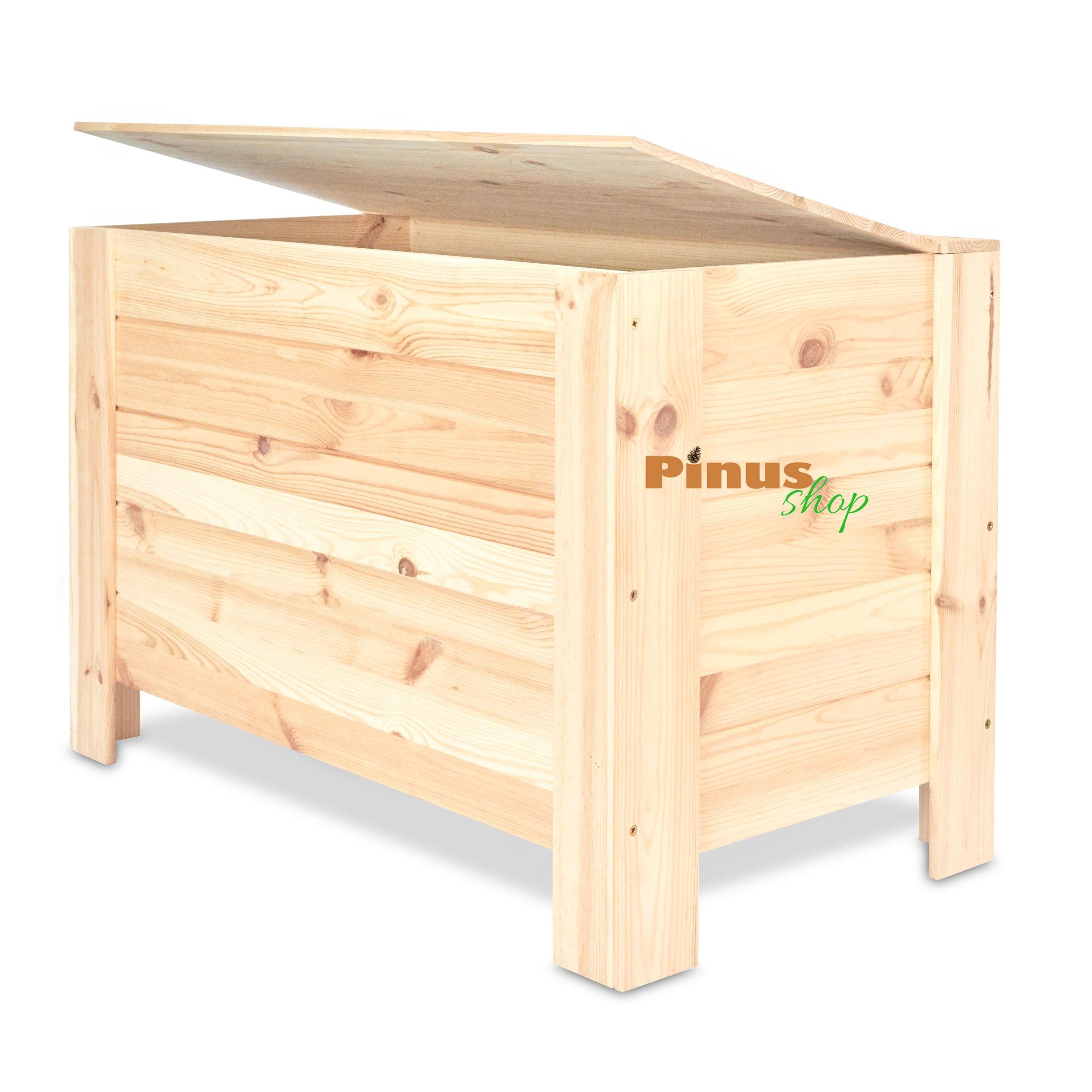 Drewniana Skrzynia Ogrodowa Kufer ławka 77x40x50cm