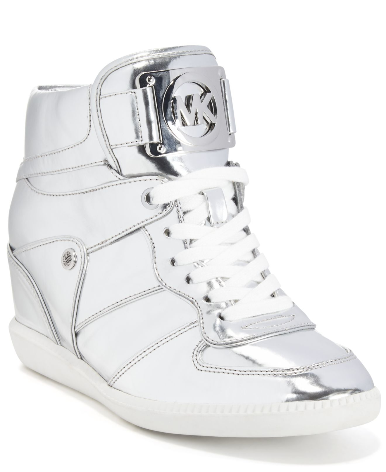 6867f329c612a MICHAEL KORS koturny buty damskie srebrne nikko 37 - 7147983239 ...