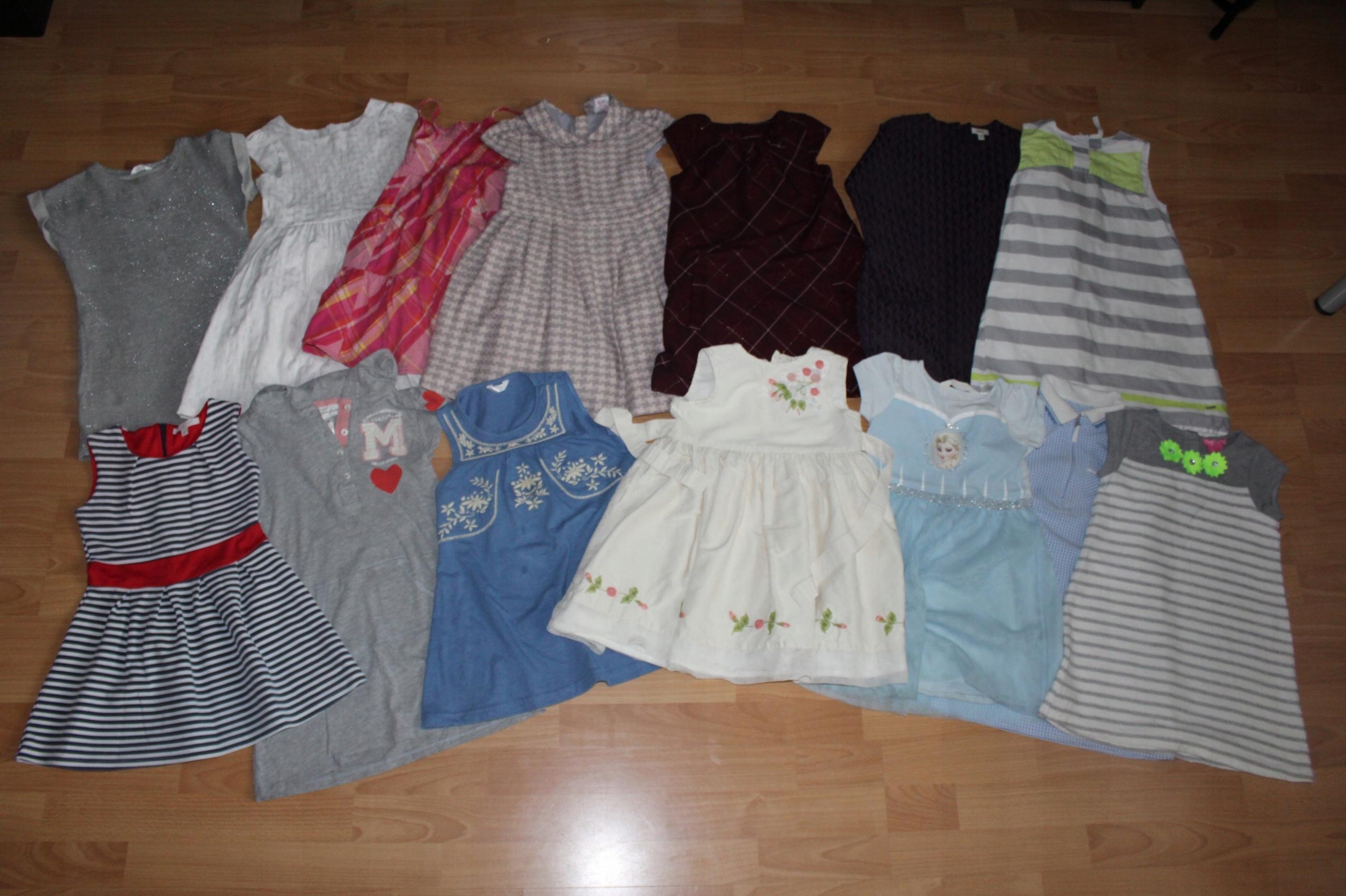 f7917e3c5c Mega paka 54 szt. ubranka dla dziewczynki 92-116 - 7603407454 - oficjalne  archiwum allegro