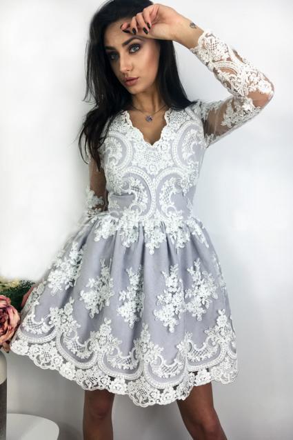 16ffea3655 Sukienka Amelia koronkowa rozkloszowana koronka - 7085407128 ...