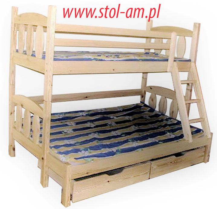 łóżka łóżko Piętrowe 3 Osobowe Tadek 7131351314