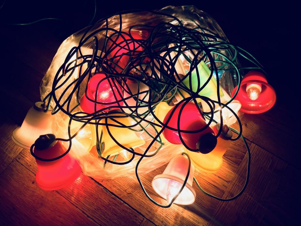 Stare Lampki Choinkowe Dzwonki Dzwoneczki Prl