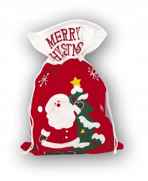 Worek do pakowania świąteczny prezent Mikołajki