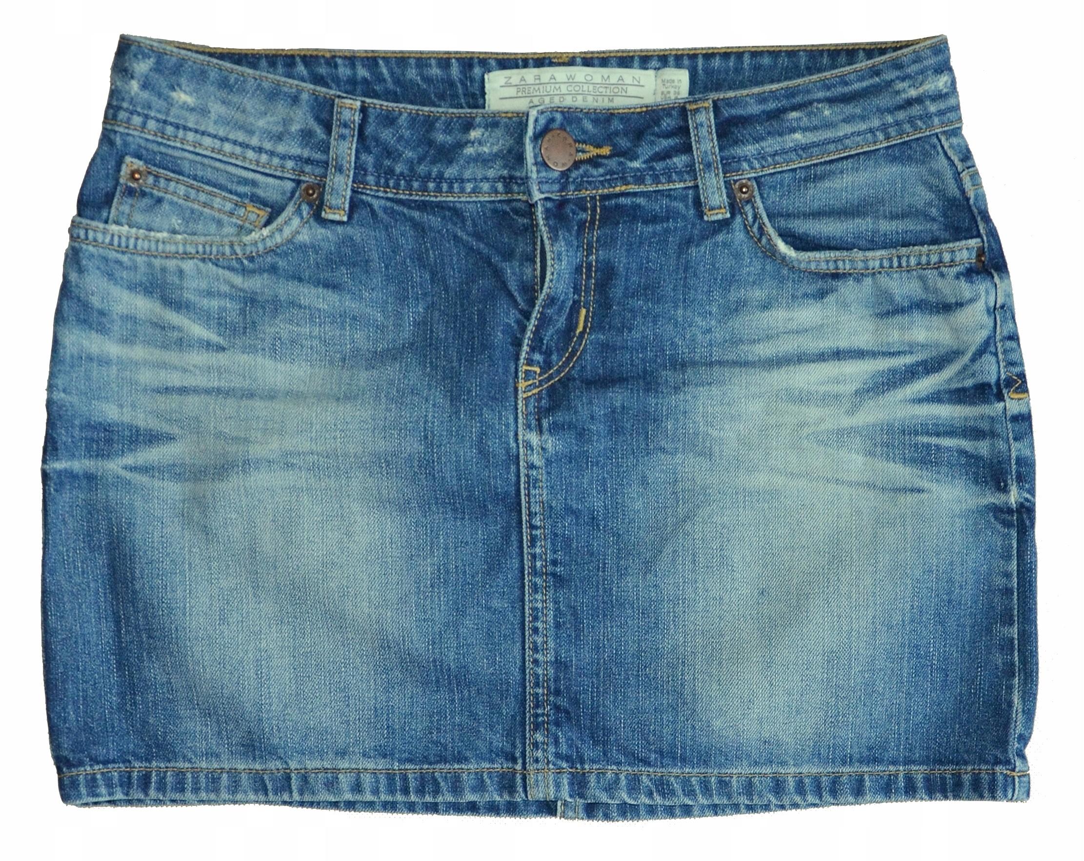 38833cb1 ZARA _ krótka dżinsowa spódnica mini rozmiar 36