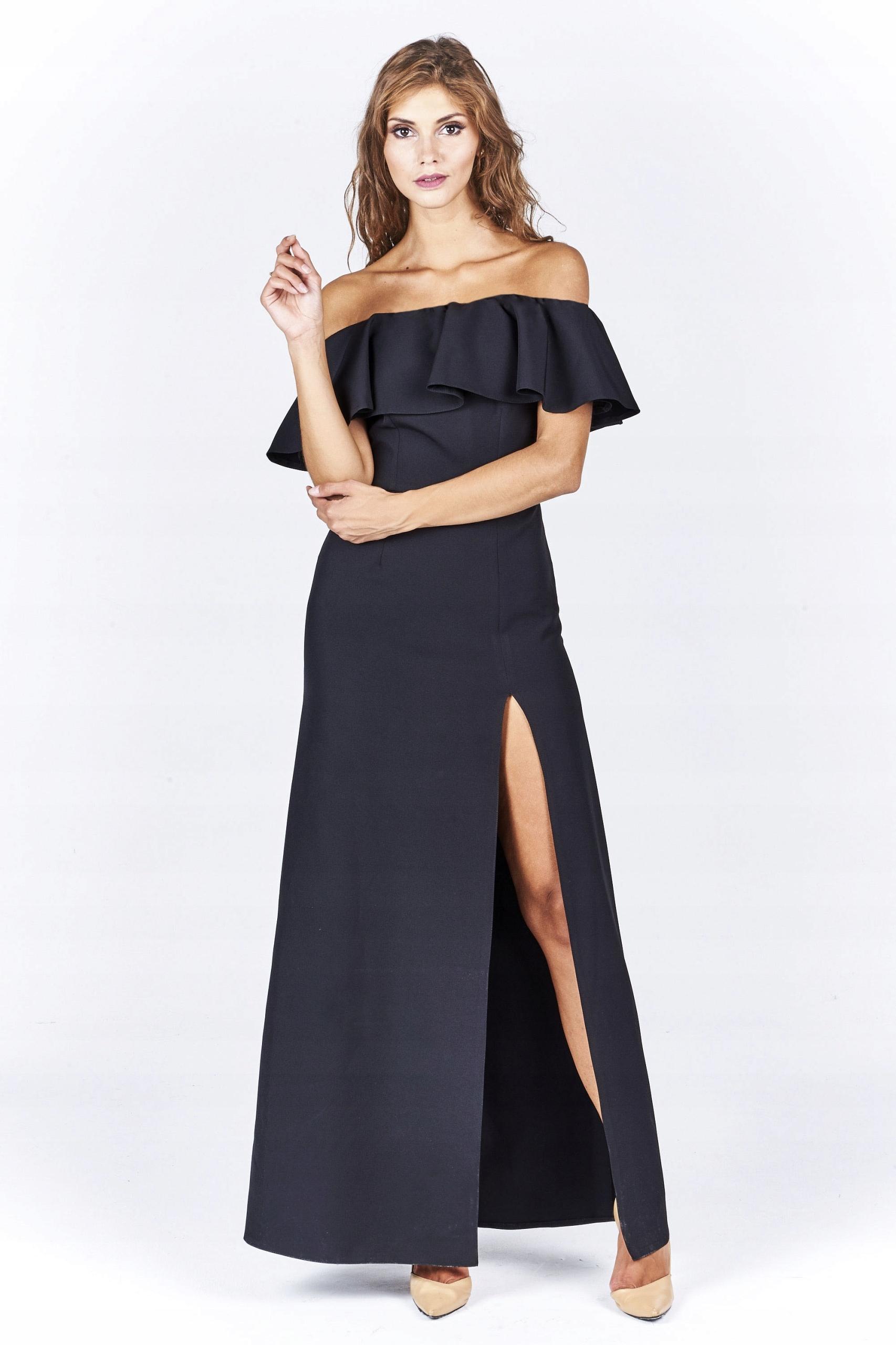 9b93b59b90 Sukienka wieczorowa Maxi Czarna Roz. 34 XS - 7485649901 - oficjalne ...