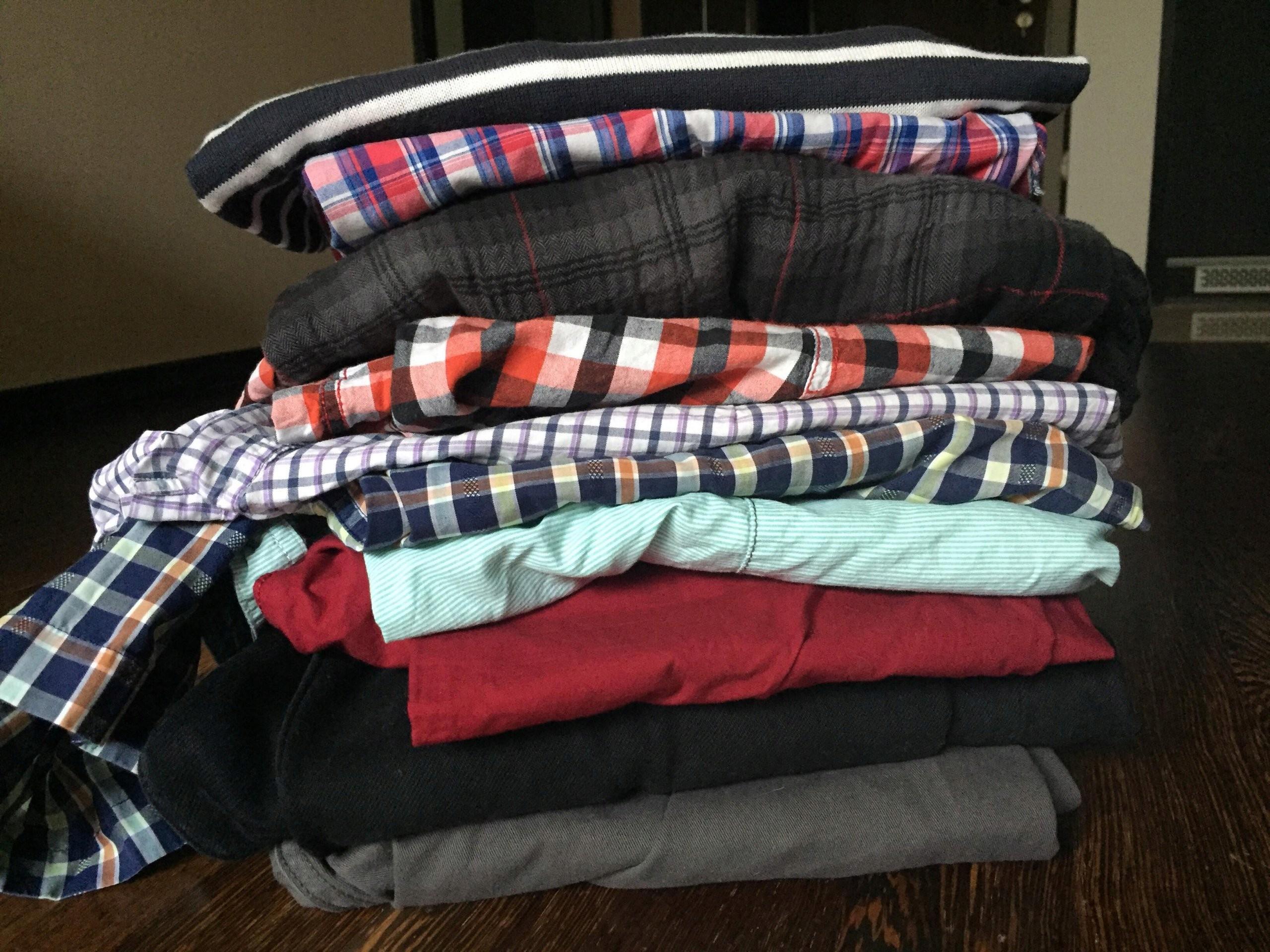 Paka męskich koszul i spodni bcm r. L stan bdb