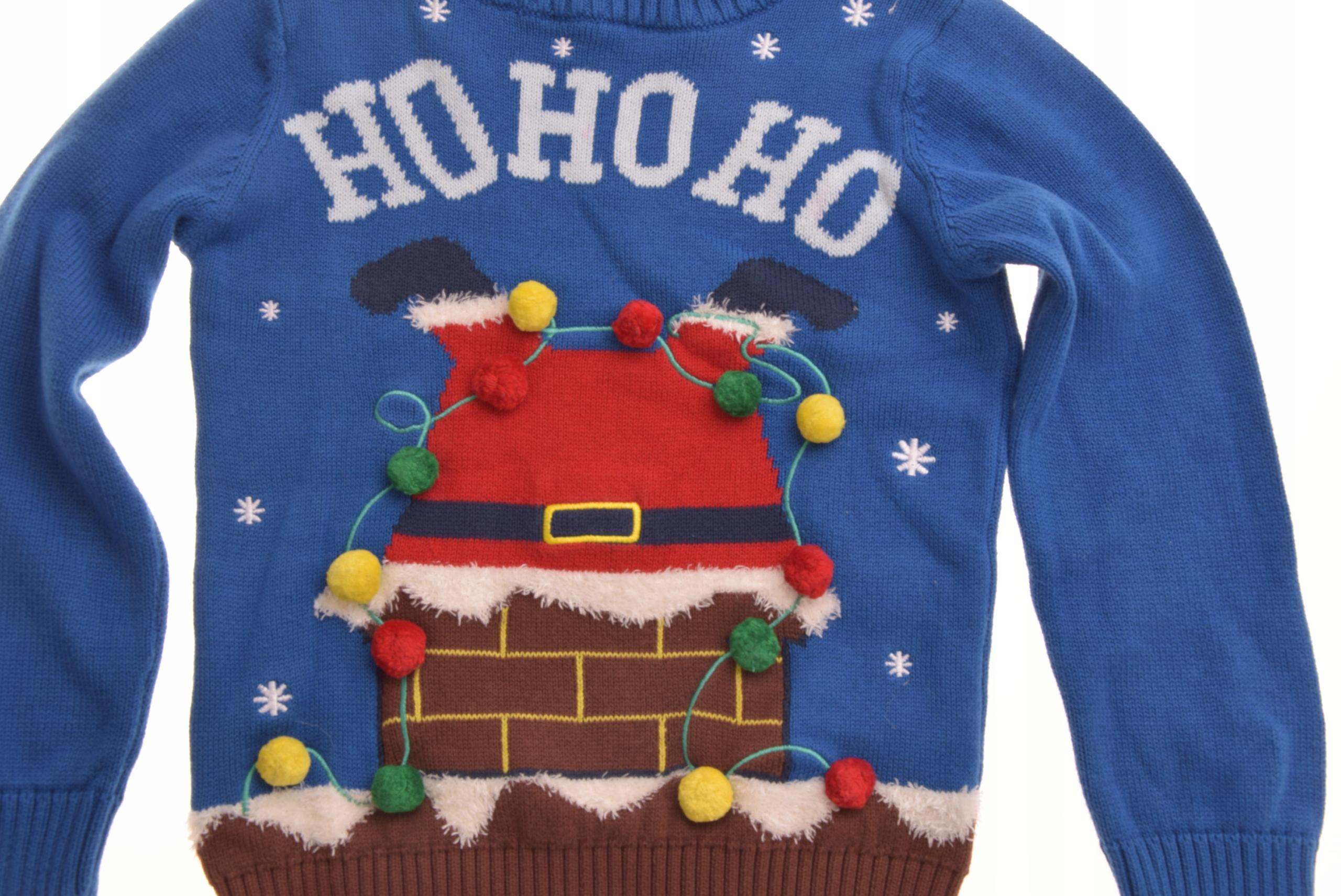 2c478f2df8a2cf F&F sweterek świąteczny Mikołaj w Kominie 116 - 7630737458 ...