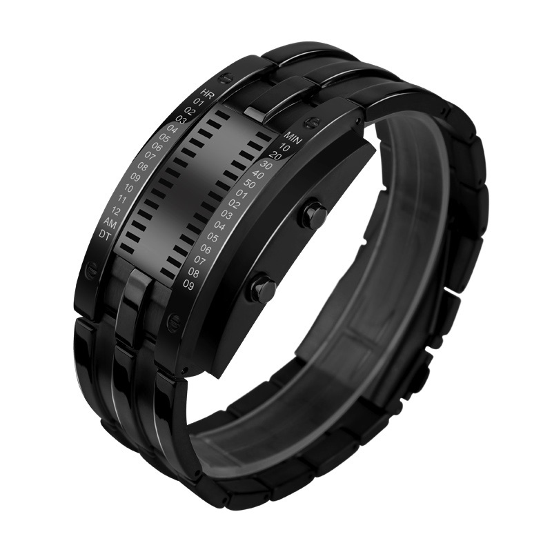 Binarny LED Zegarek męski elektroniczny bluetooth