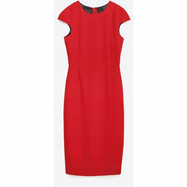 d7ebfba600 Czerwona elegancka ołówkowa sukienka Zara 34 XS - 7549279695 ...