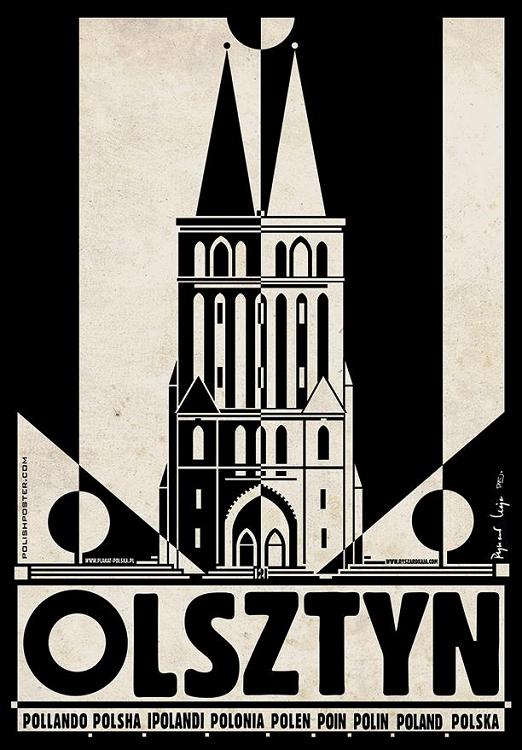 Olsztyn Seria Plakat Polska Ryszard Kaja Kartka 7163815237
