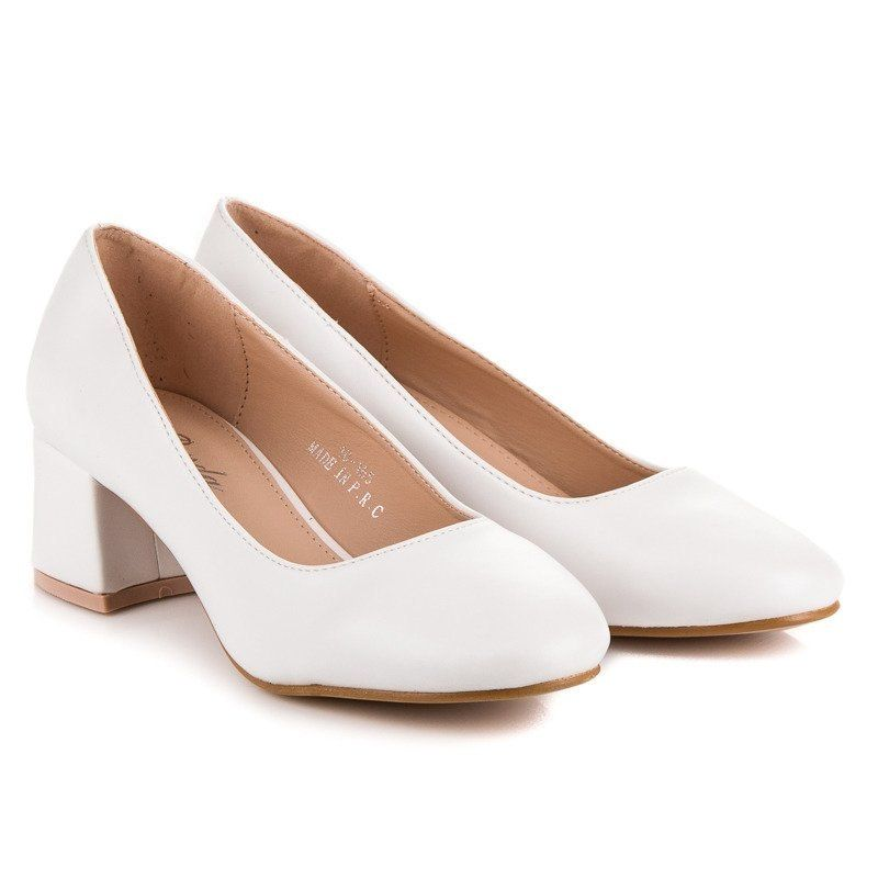 Białe Buty ślubne Na Słupku Bardzo Wygodne 38 7308680087