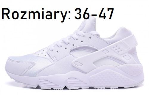Nike Buty męskie Air Huarache Run białe r. 44 (318429 108 S)