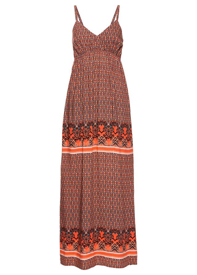 9fdda2696c Długa sukienka pomarańczowy 38 M 923307 bonprix - 6999095023 ...