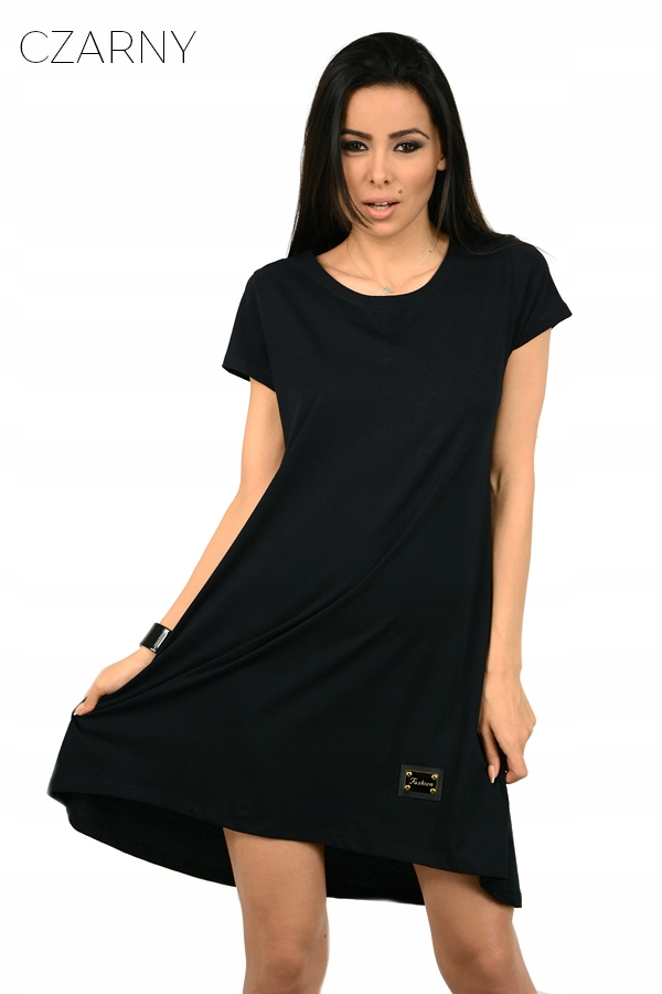 46d1cea0b6 Sukienka dresowa TUNIKA oversize gładka 079 KOLORY - 7361102973 ...