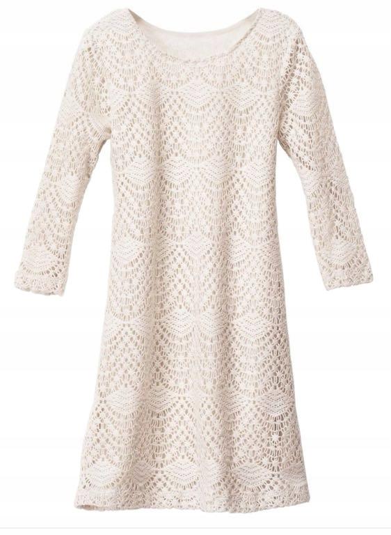 eb6e4c57d1 Sukienka 36 biała ażur koronka hm - 7539373028 - oficjalne archiwum ...
