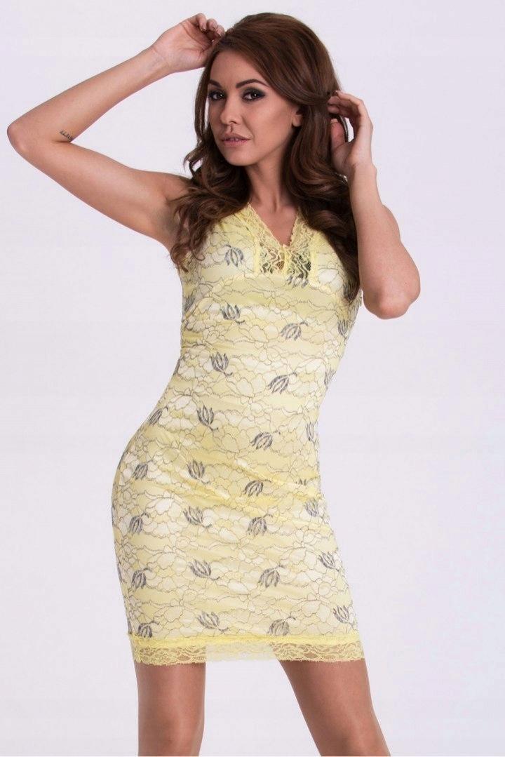 f0de501a9b906a Sukienka Model 17126 Cytryna - 7556130700 - oficjalne archiwum allegro