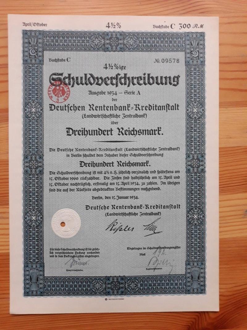 SCHULDVERSCHREIBUNG DER DEUTSCHEN RENTENBANK