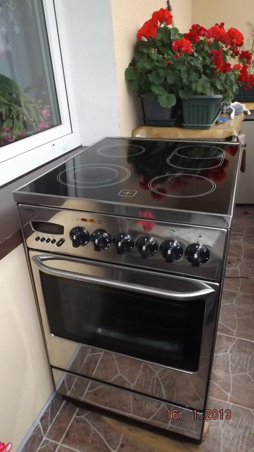 Kuchnia Amica Z Blatem Ceramicznym Inox 50 Cm 7486903783