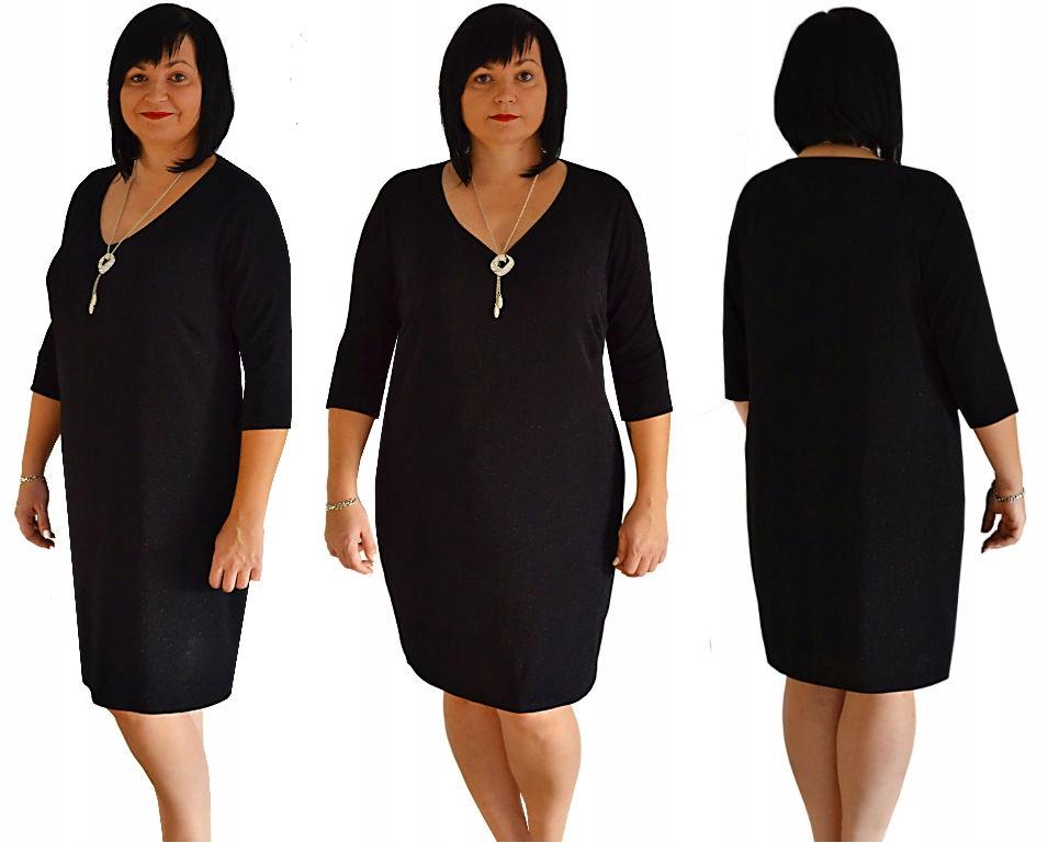 f6d9c00ff1 Sukienka z połyskującą czarną nitką roz.50 - 7699818563 - oficjalne ...