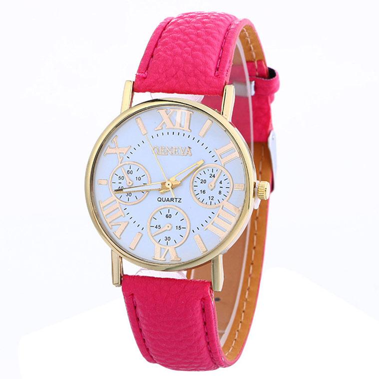Zegarek Geneva damski męski różowy
