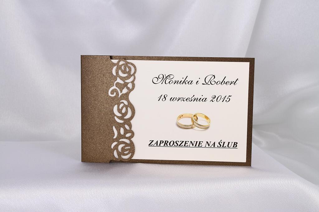 Eleganckie Zaproszenia Na ślub Wesele Nowość 6739634832