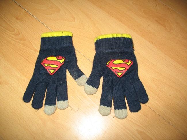 SUPERMAN ciepłe rękawiczki 104-128