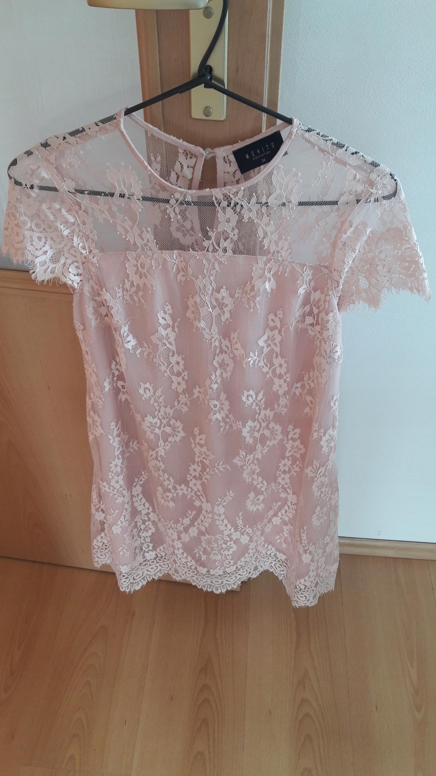 234bcd9b Mohito sukienka koronkowa pudrowy róż r. 34 - 7557371817 - oficjalne ...