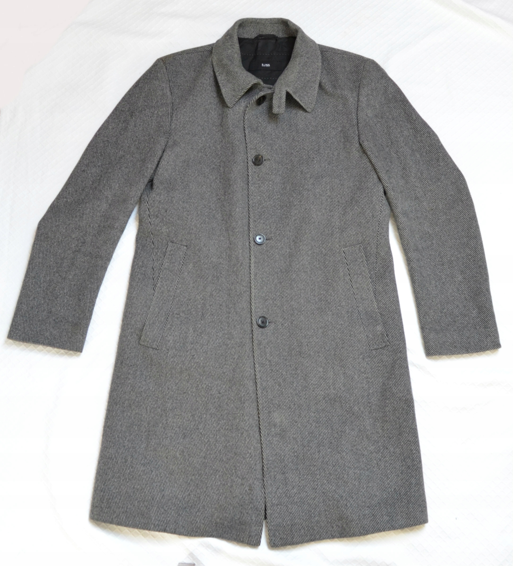 9b8a92d970860 Hugo Boss płaszcz męski XL 42 kaszmir i wełna bdb - 7696501811 ...