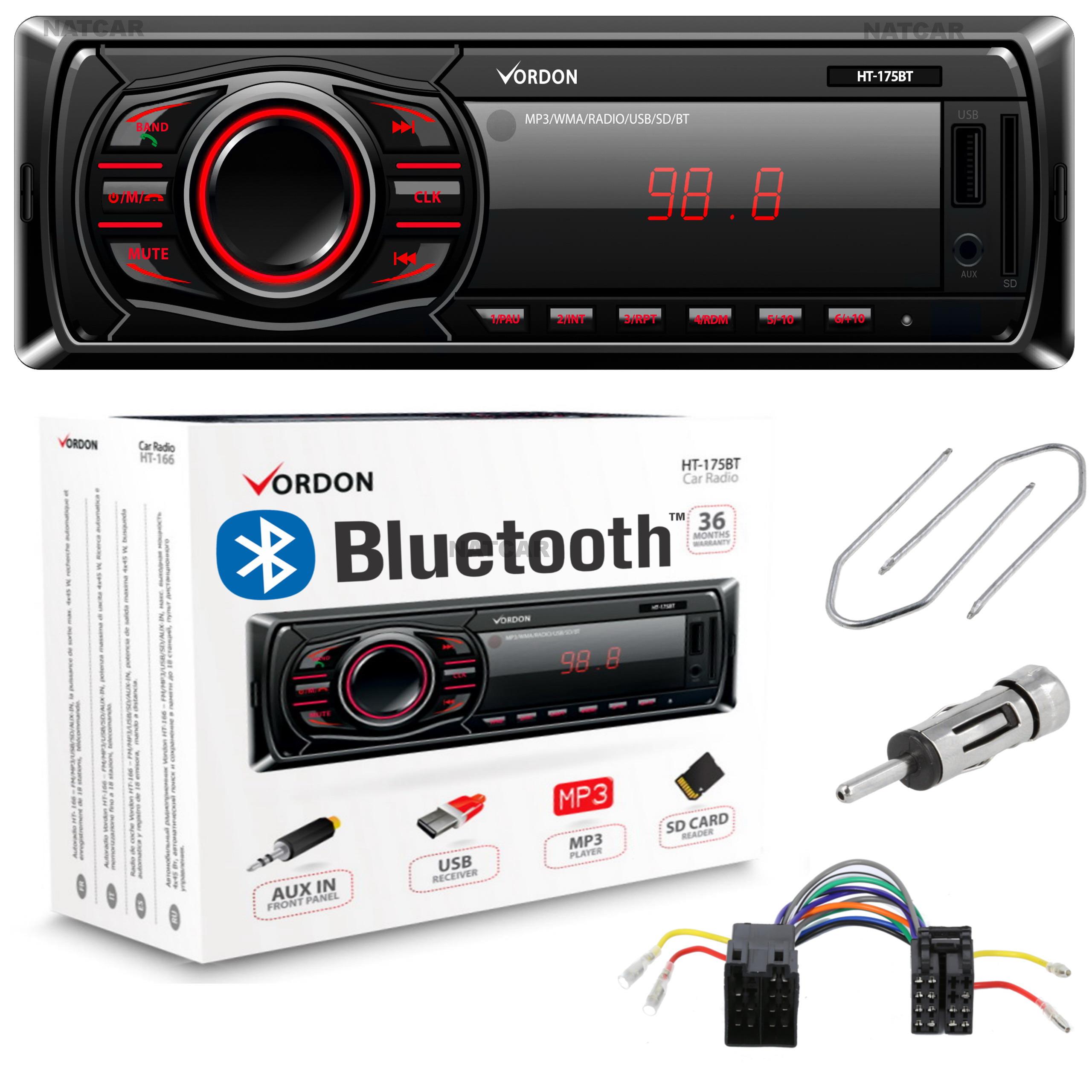RADIO AUX USB SD BLUETOOTH MERCEDES W202 W210 W124 - 6780232697