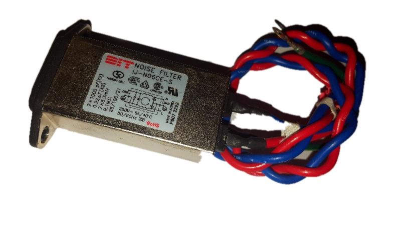 Filtr EMI sieciowy przeciwzakłóceniowy 6A 250V AC