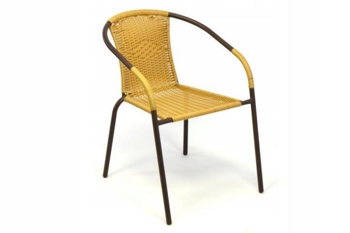 Krzesło Ogrodowe Balkonowe Tarasowe Rattan 7349532676