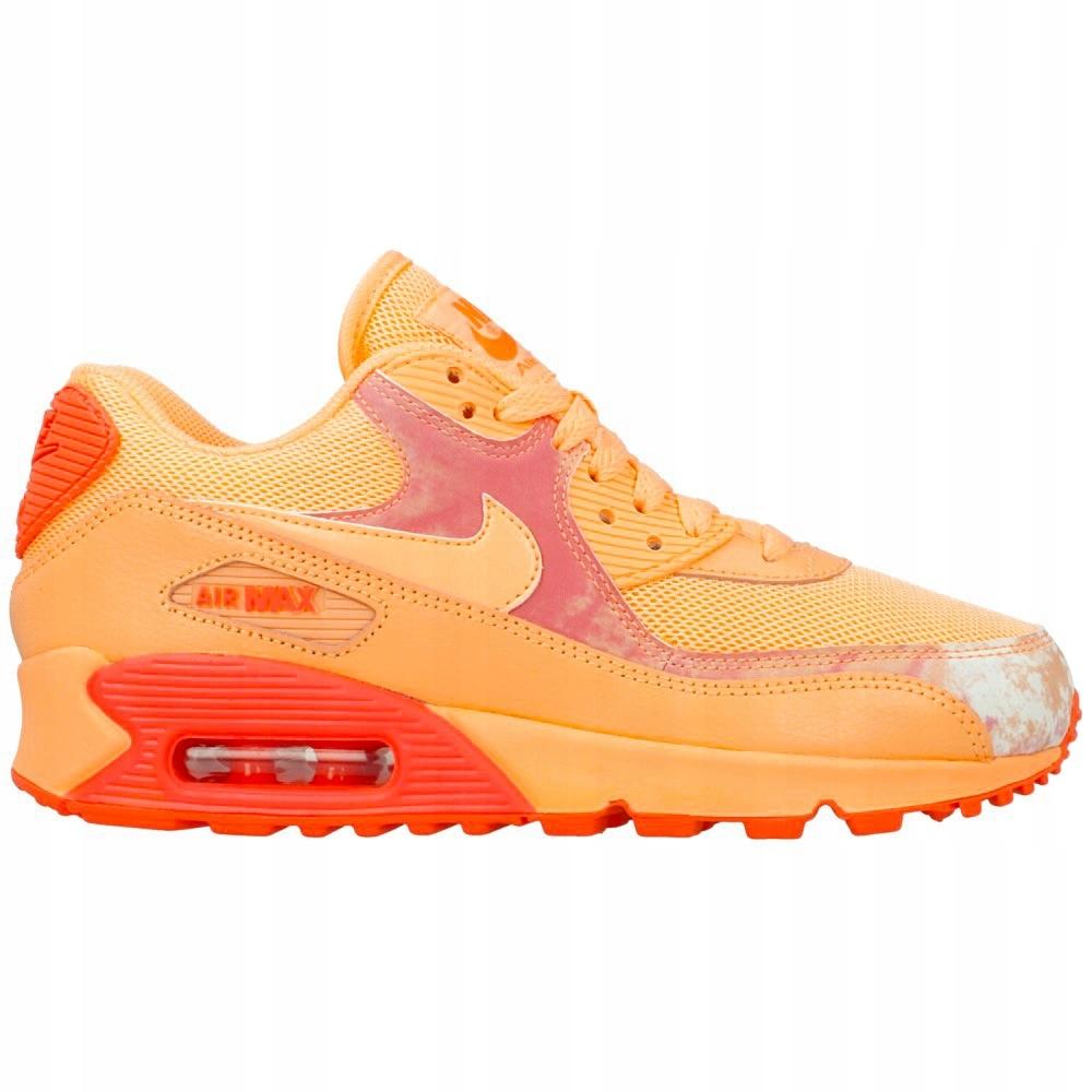 Buty Nike Air Max 90 Damskie Leather PomarańczowyBiały