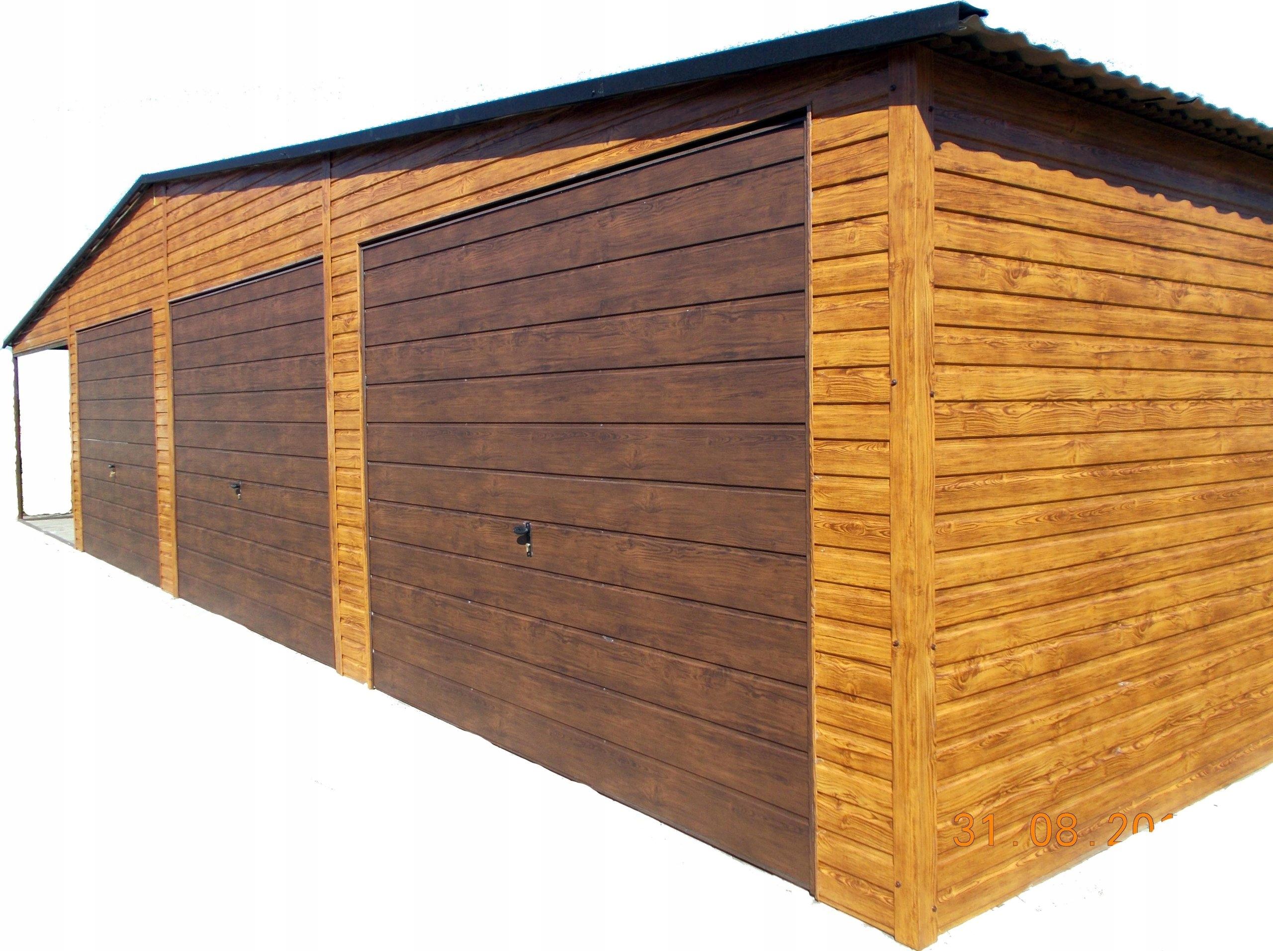 Garaż Blaszany Garaże Blaszane Drewnopodobne 9x6 7486064420