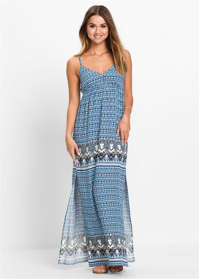 4359ae8d74 Długa sukienka niebieski 44 XXL 923608 bonprix - 7138688063 ...