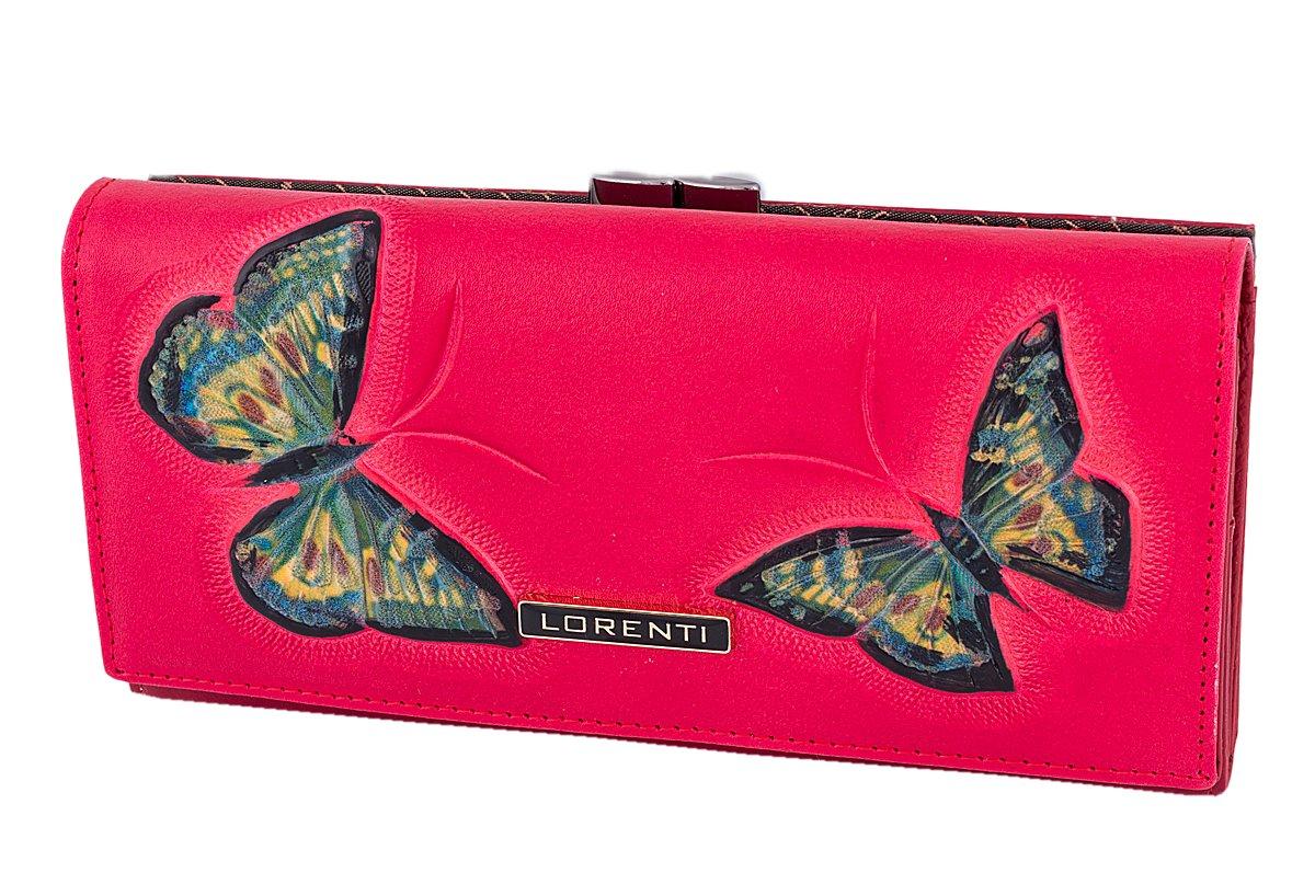 10a13139e780 Lorenti portfel portmonetka bigiel skórzany motyle - 6931224294 ...