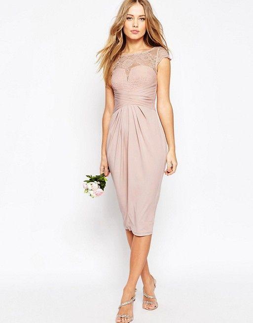 81663ad6 ASO WEDDING Różowa ołówkowa sukienka midi (34)