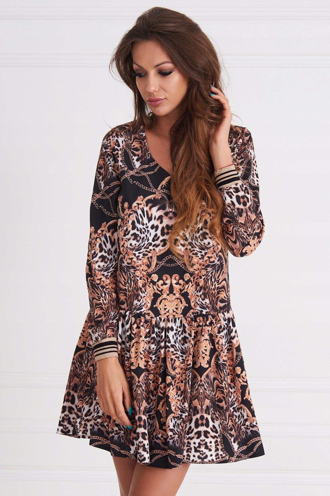 32b3b687fa Cocomore sukienka panterka czerń wzory 36 S SALE - 7642071121 ...