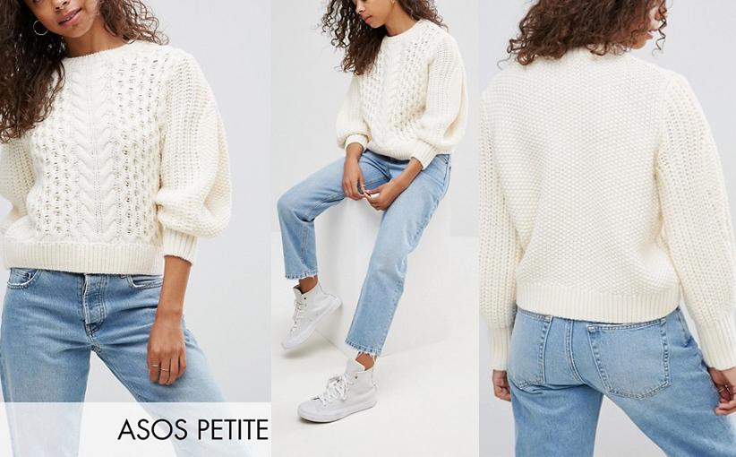 Kremowy krótki sweter