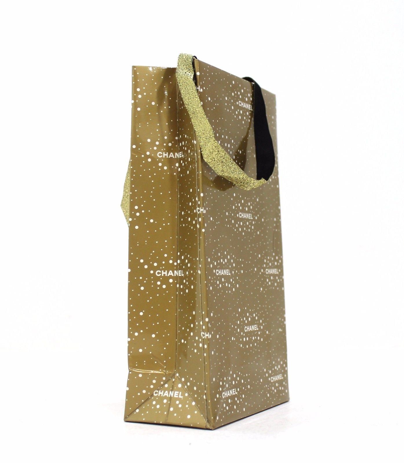 cdfc37ee59a54 Chanel mała oryginalna torebka prezentowa, złota, - 7491209229 ...