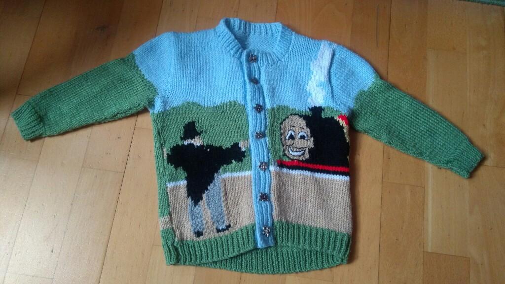 Tomek i Przyjaciele sweterek recznie robiony r 110