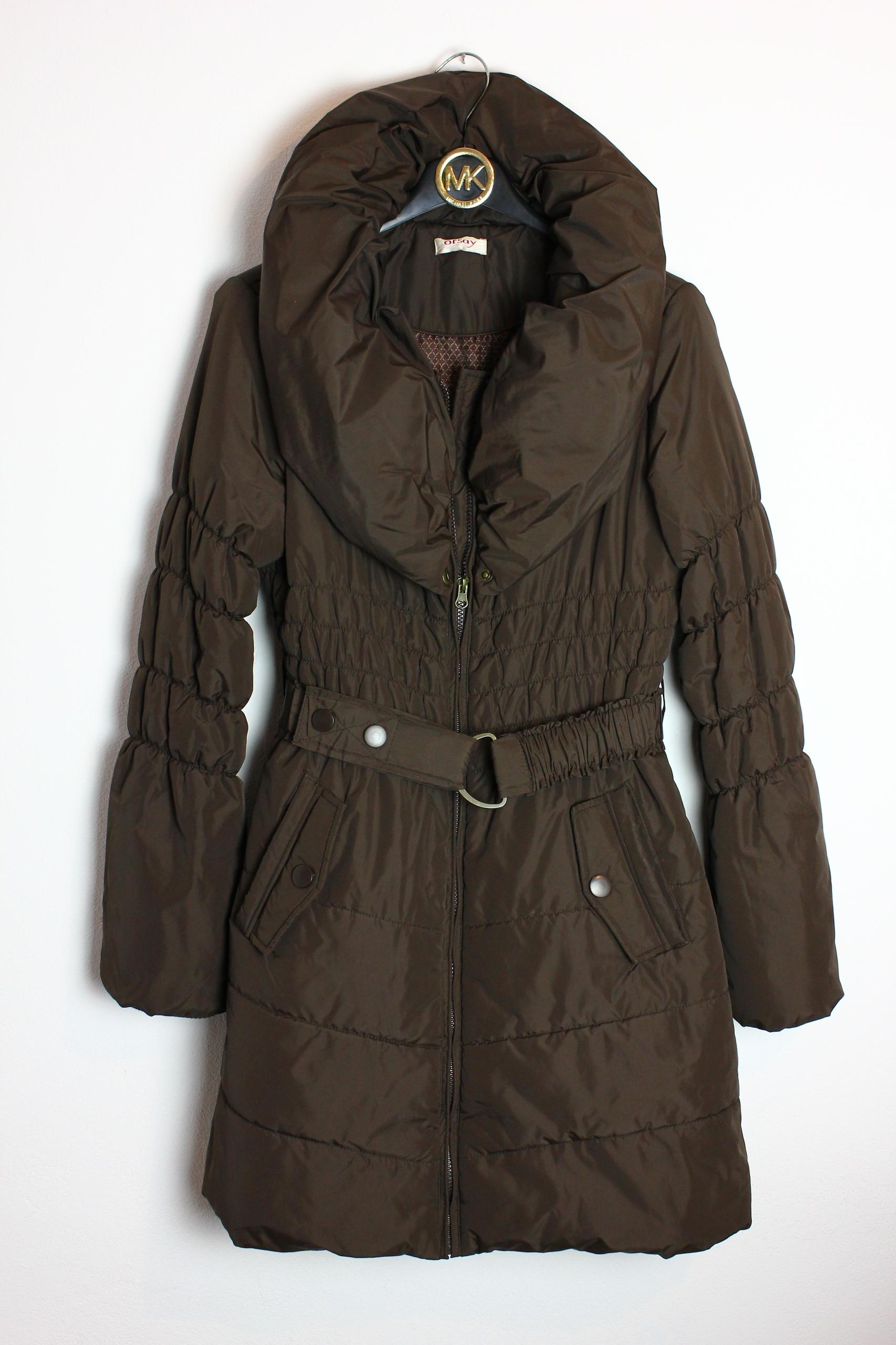 3fcbf0325c92a Ciepła kurtka płaszcz Orsay 38 M z paskiem - 7720520395 - oficjalne ...