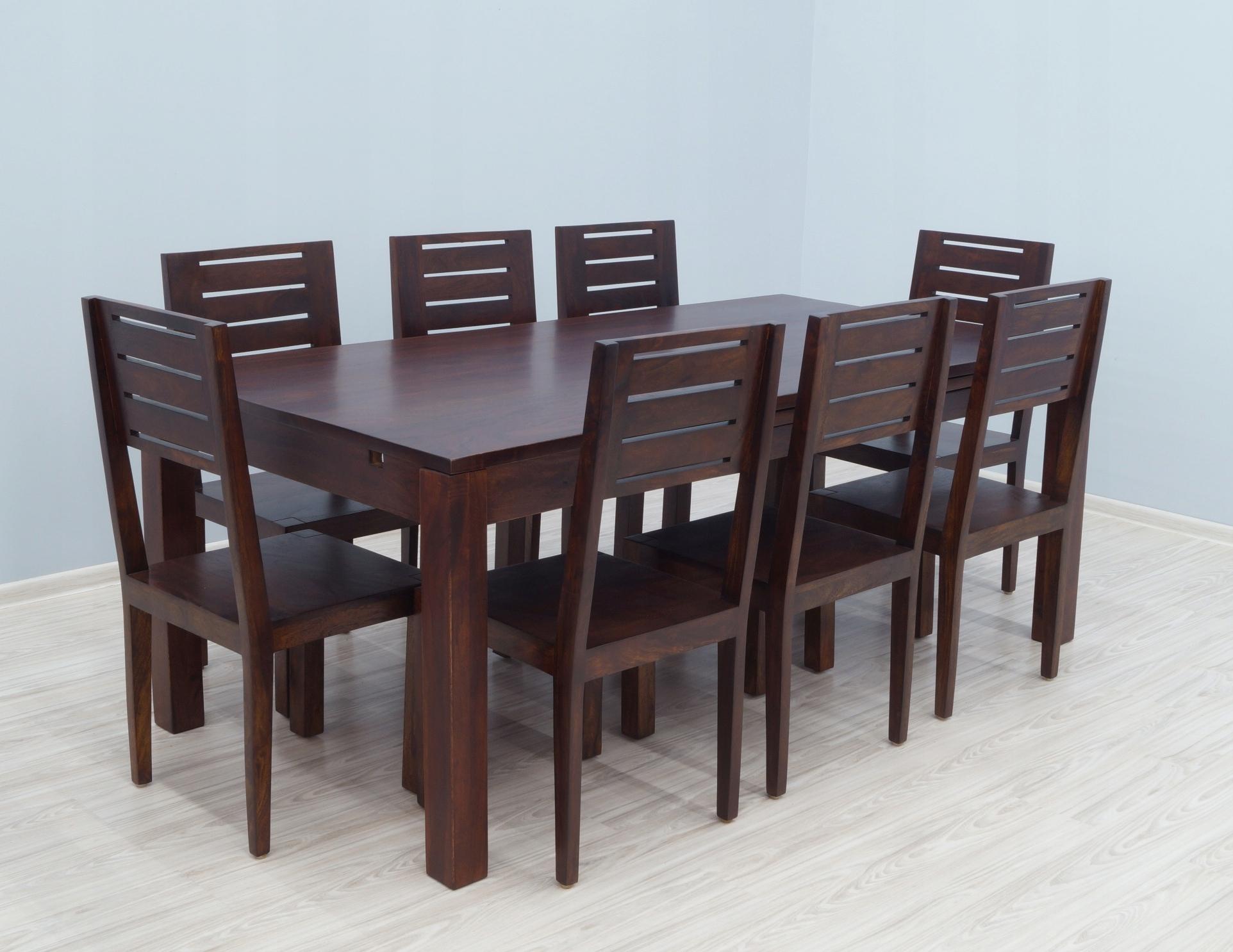 Komplet Obiadowy Stół Krzesła Z Litego Drewna 7303301123