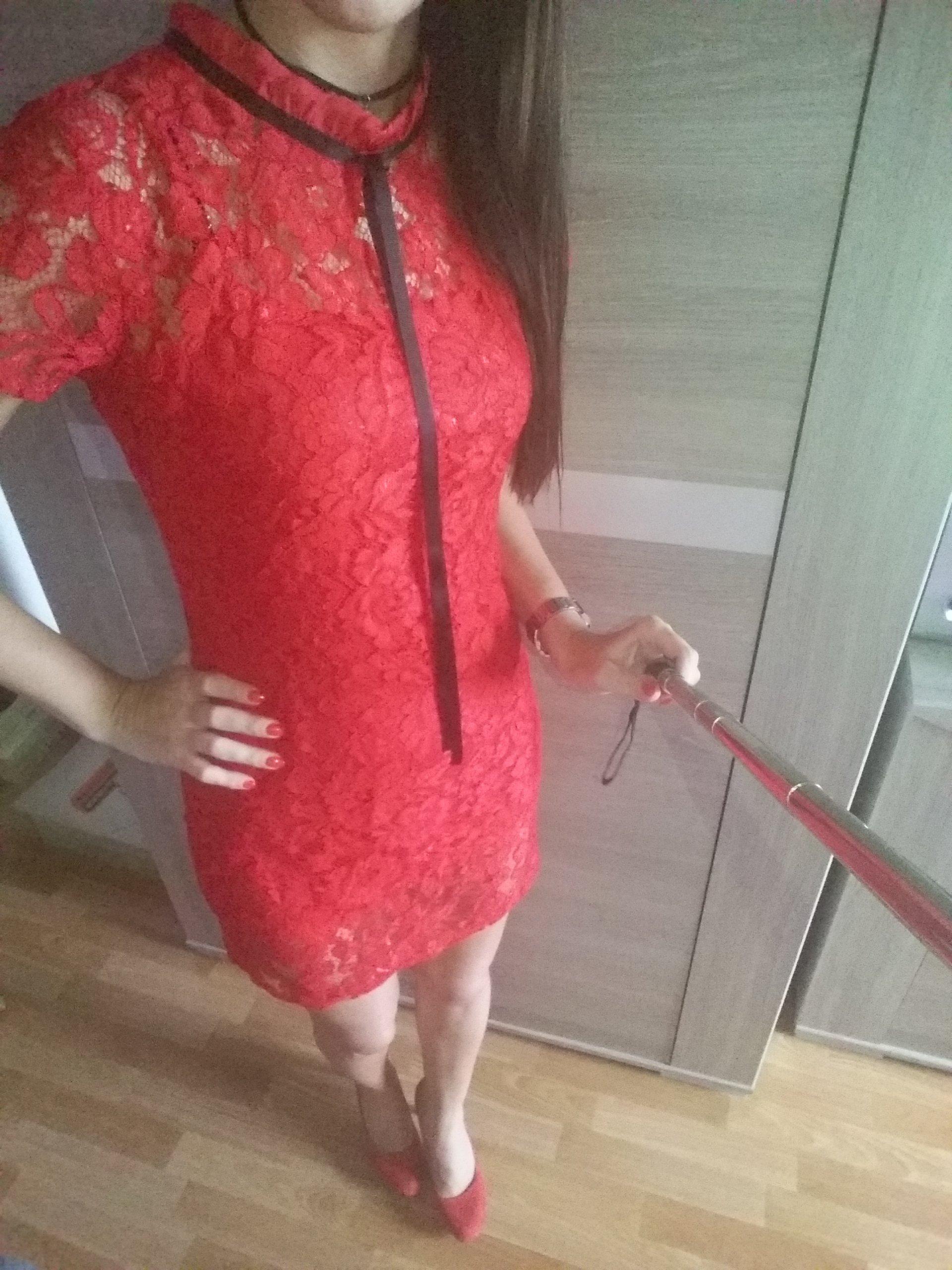 9c5c2af1 Sukienka VUBU NOWA - Czerwona koronka - rozmiar S - 6866262073 ...